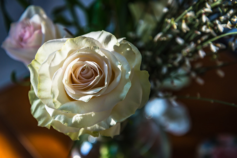 A beautiful bouquet featuring a partially-opened rosebud