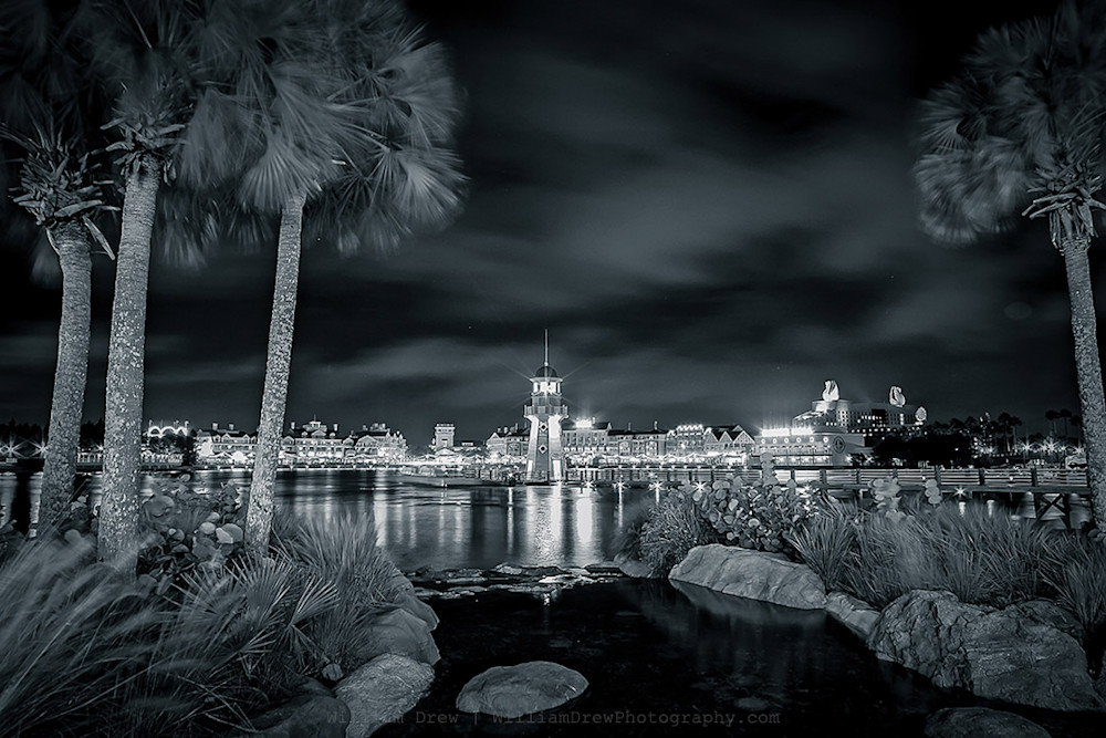 Disney Boardwalk Black and White