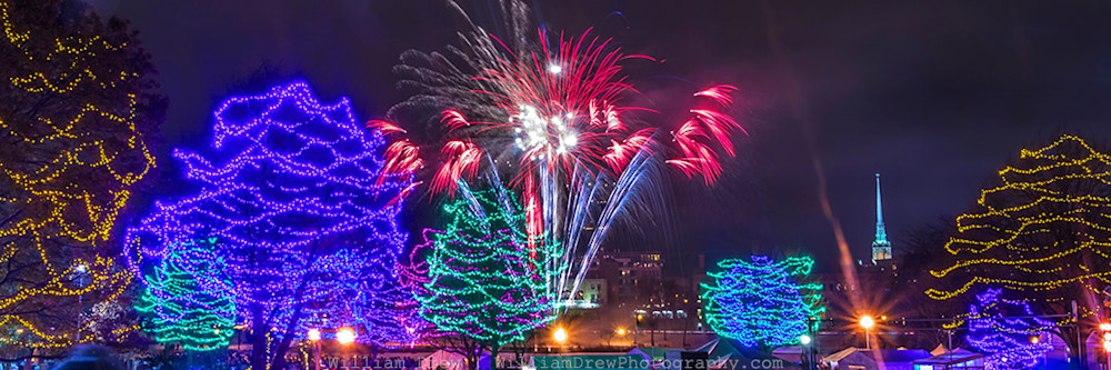 Minneapolis Art Prints - Holidazzle Fireworks 2