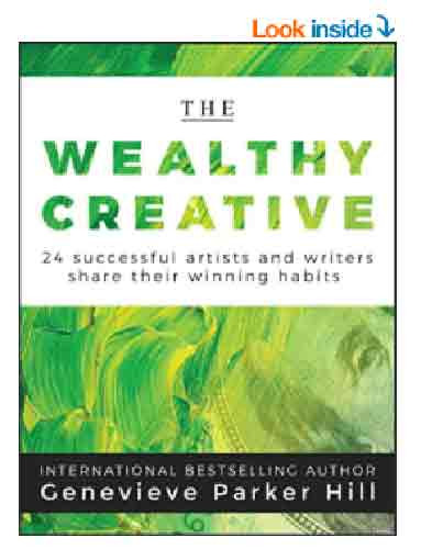 Book cover of the Wealthy Creative including interview with artist Shirley Williams