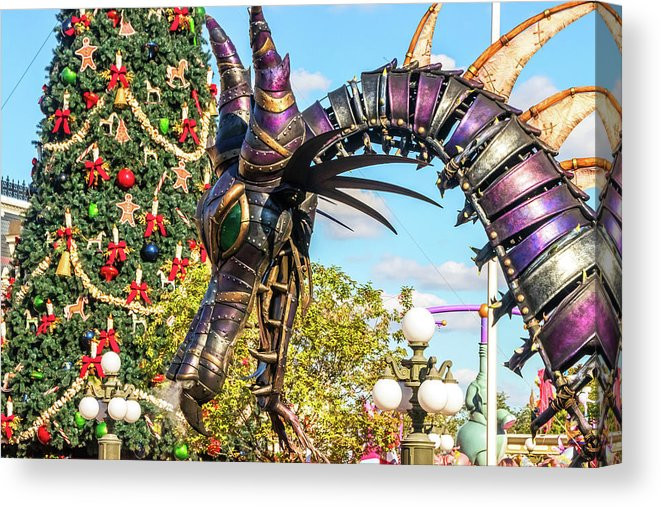 Disney Canvas Art - Maleficent Dragon Christmas | William Drew Photography