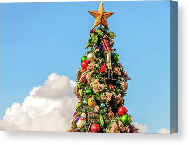 Disney Canvas Wrap - A Boardwalk Christmas | William Drew Photography