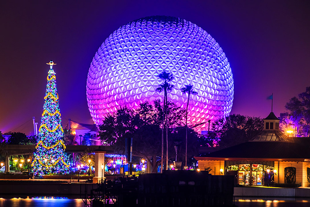 Epcot Christmastime - Disney Wall Art Prints | William Drew Photography