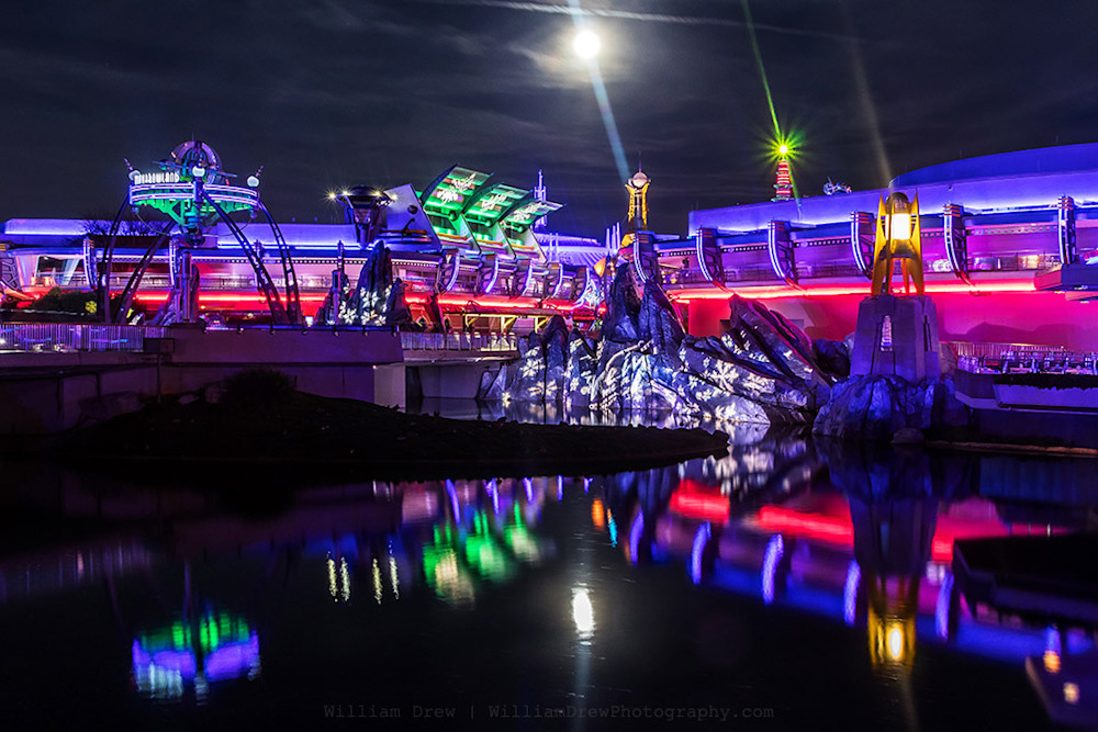Disney Wall Art Prints - Tomorrowland at Night | William Drew Photography