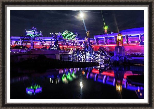 Disney Framed Art - Tomorrowland at Night | William Drew Photography