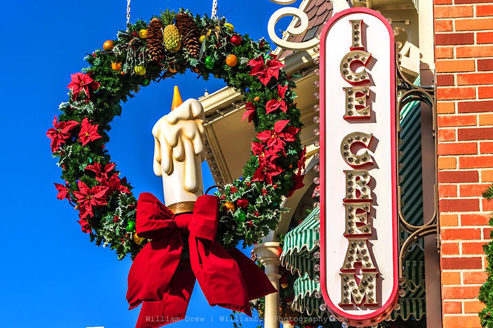 Main St. USA Ice Cream - Disney Christmas Art | William Drew Photography