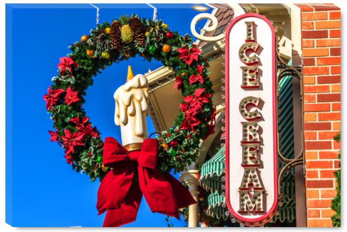 Disney Canvas Wrap - Main St. USA Ice Cream | William Drew Photography