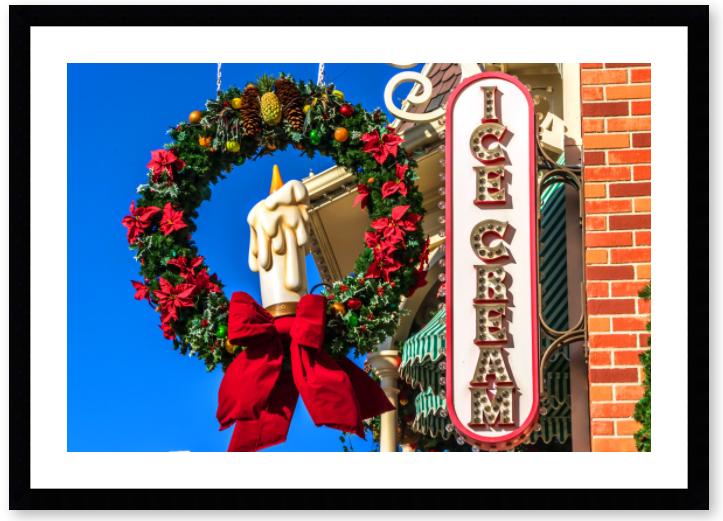 Disney Framed Art - Main St. Ice Cream | William Drew Photography