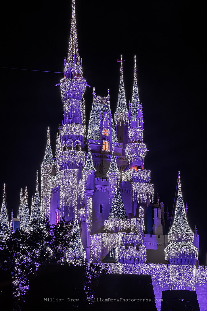Cinderella's Castle Christmas Art - William Drew Photography