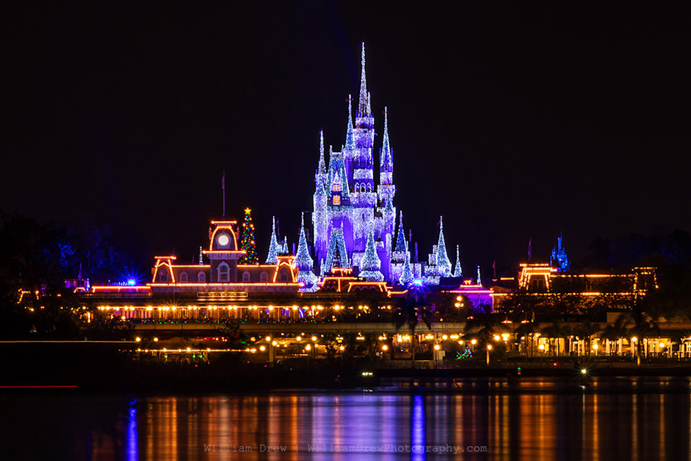 Magic Kingdom Christmas - Disney Christmas Art | William Drew Photography
