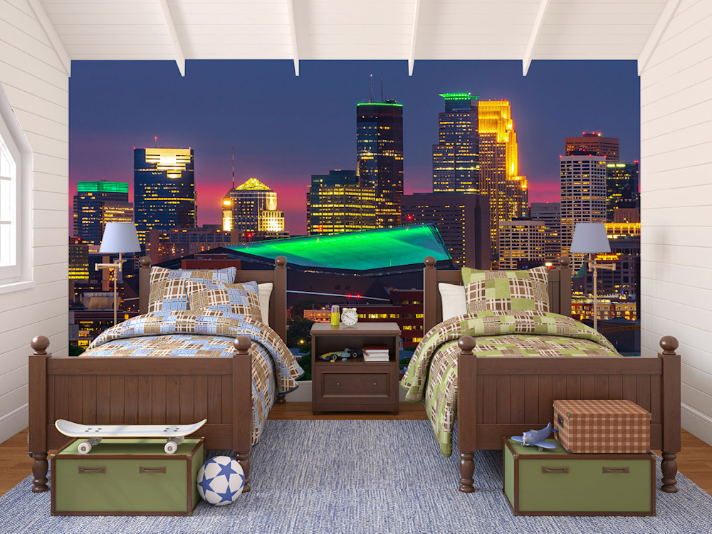 Cityscape Mural - Minneapolis Skyline | William Drew Photography