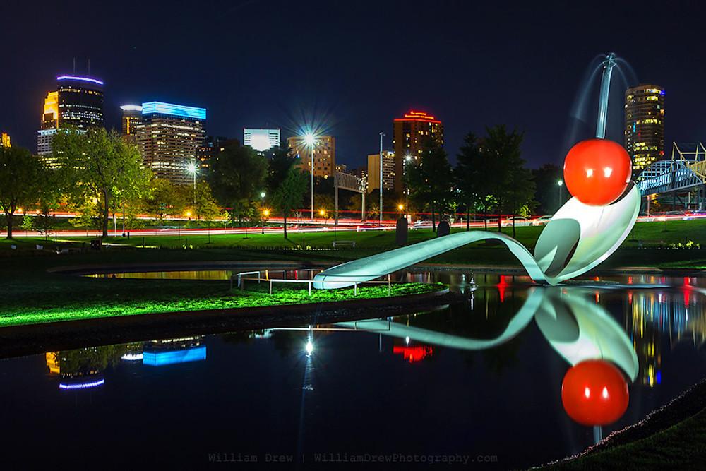 Reflective Cherry - Minneapolis Art Prints | William Drew