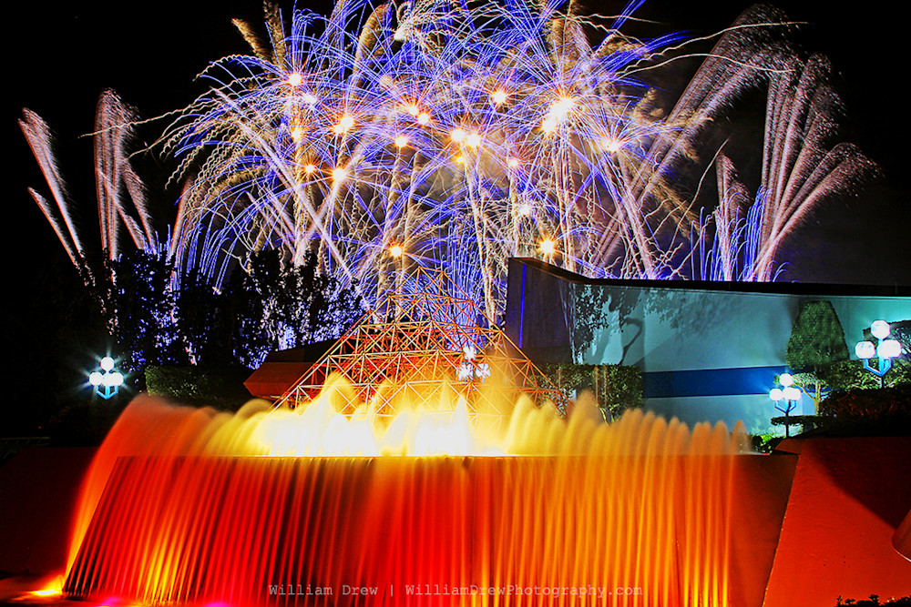 Epcot Fireworks Art - William Drew Photography