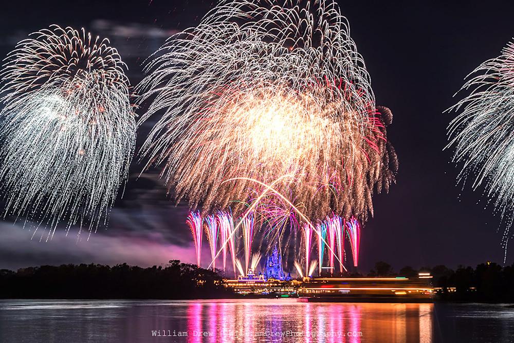 Disney Fireworks - Disney Art Prints | William Drew Photography