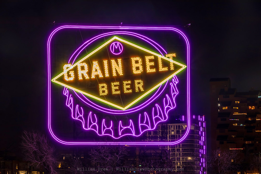 Grain Belt Purple Viking - Minneapolis Photos | William Drew Photography