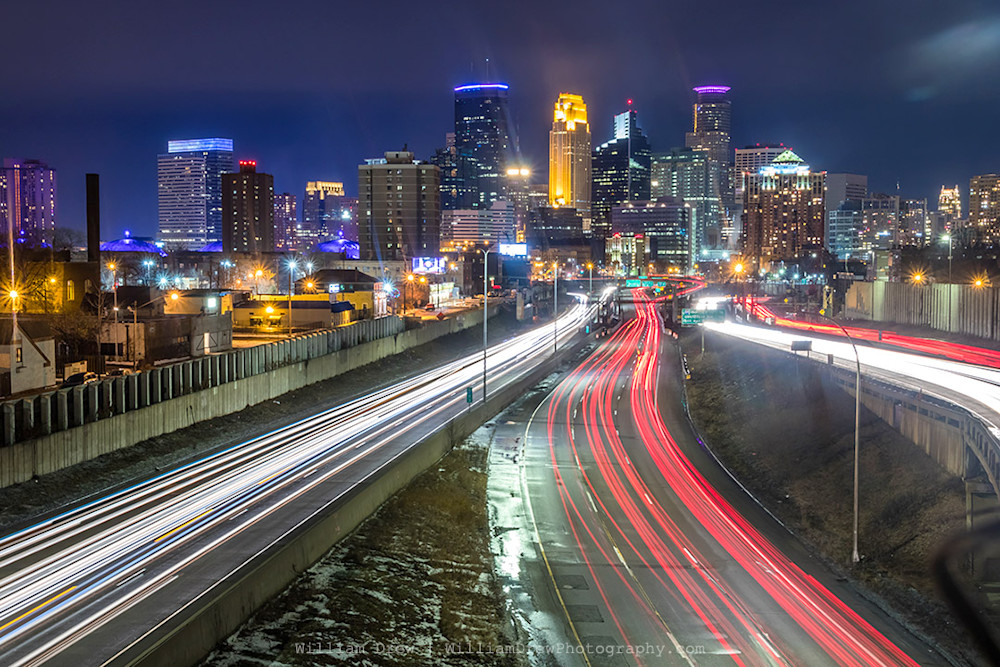 Minneapolis Skyline Image - Minneapolis Wall Art | William Drew Photography