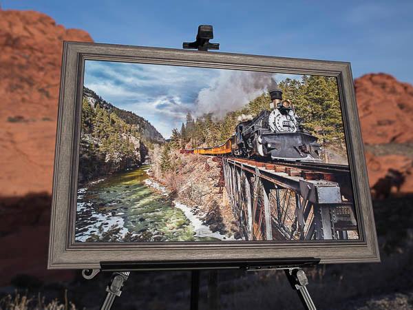 High Ball to Durango framed Cascade on SlimPlaq