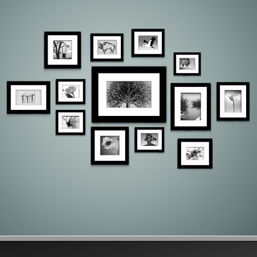 how to hang multiple pictures on a wall
