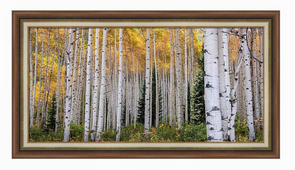 My Acrylic print with a medium walnut wood frame and natural cloth linen liner