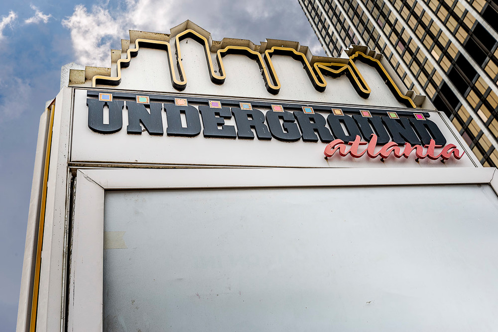 One of the old Underground Atlanta signs outside Underground