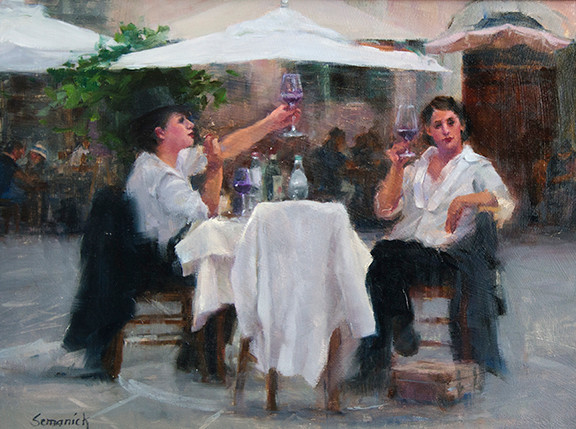 Cafe Girls | Southwest Art Gallery Tuson | Brenda Semanick