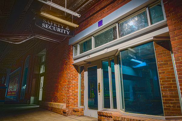 The old storefront security office in Underground Atlanta