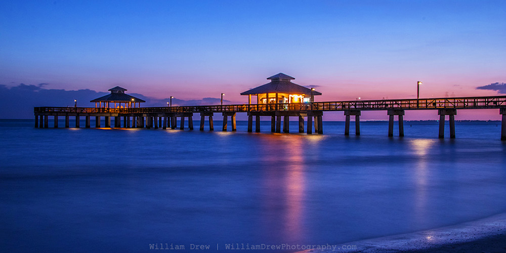Dusk at the Pier - Florida Photographs | William Drew Photography