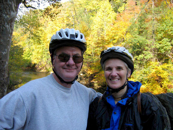 Jim and Dorothy on a cycling trip in Pennsylvania