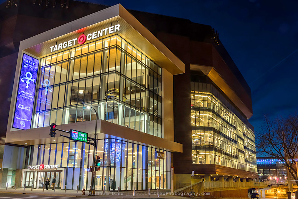 Target Center and Prince - William Drew Photography
