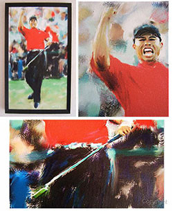 Tiger Woods painting by Mark Trubisky