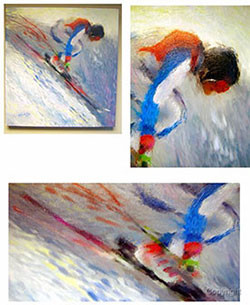 Ski painting by Mark Trubisky