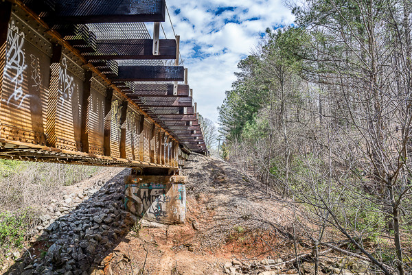 Railroad tracks near South Peachtree Creek
