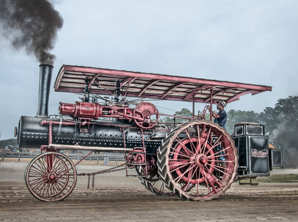 ART PHOTOGRAPH PORT HURON STEAM POWERED TRACTION ENGINE FLEBLANC
