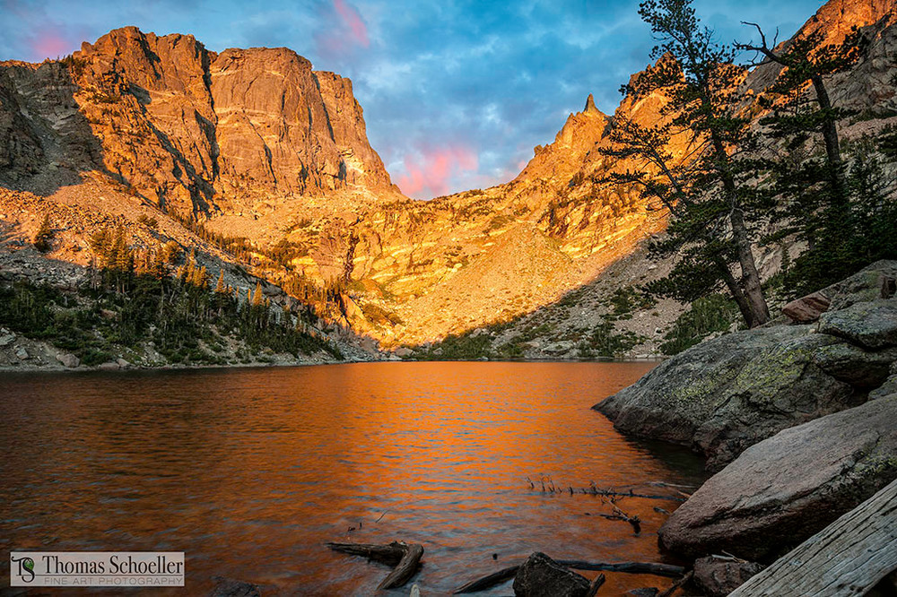 Alpenglow at Emerald lake RMNP Colorado