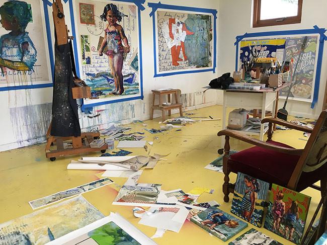 Working in my studio Bianca Berends