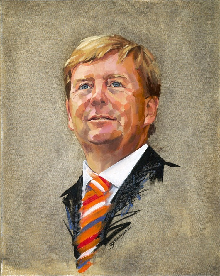 Portrait King Willem Alexander