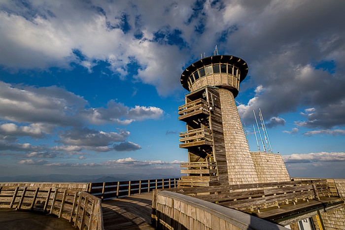 A view of the observation tower at Brasstown Bald