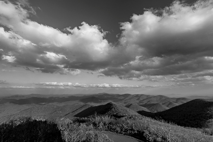 A view of the scenery from Brasstown Bald