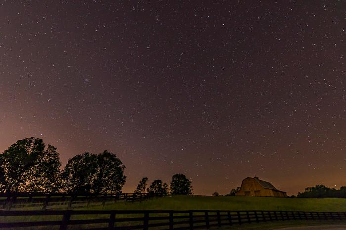 Starry night in north Georgia