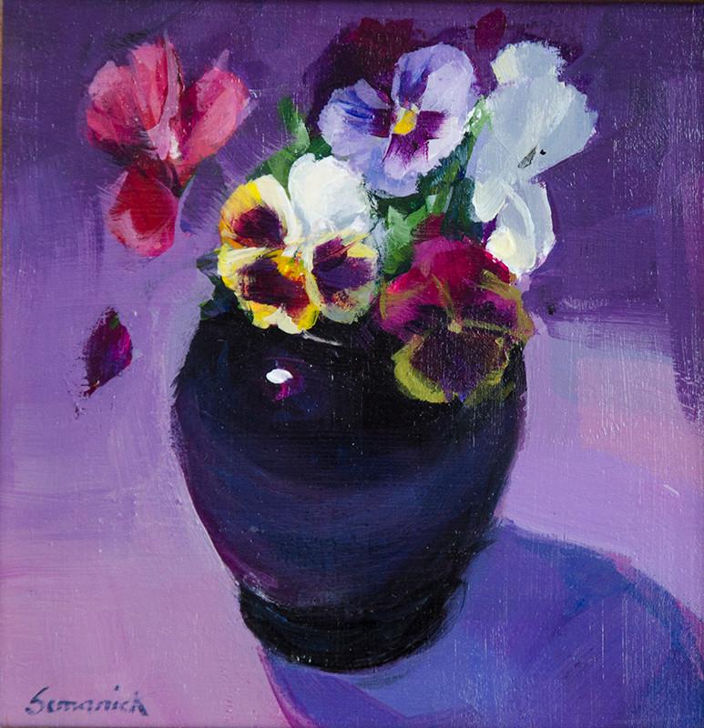Spring Pansies | Southwest Art Gallery Tuson | Brenda Semanick