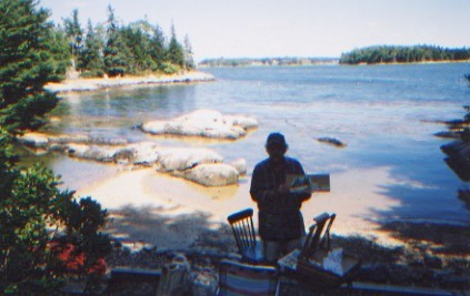 Artist on Location in Maine