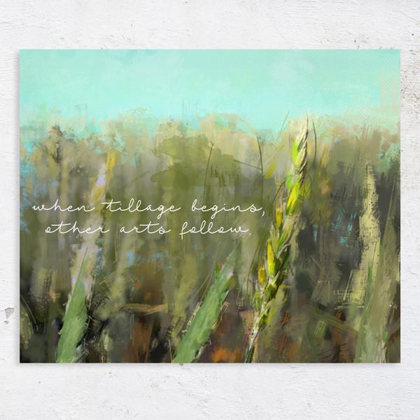 When tillage begins, other arts follow - Sask artist