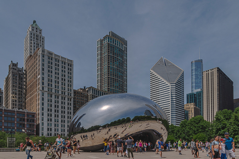 The Bean sculpture in Chicago's Millennium Park