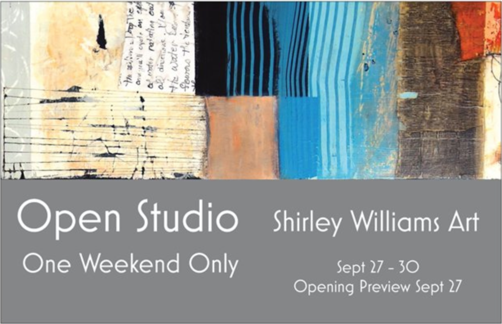 Invitation to Shirley Williams Open Studio