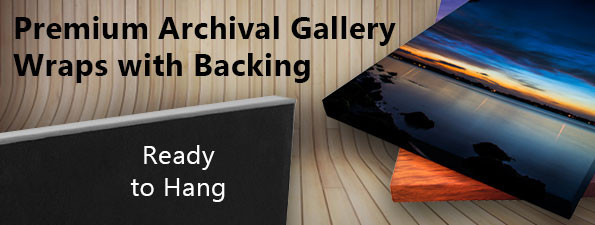 Premium Gallery Wraps with Backing