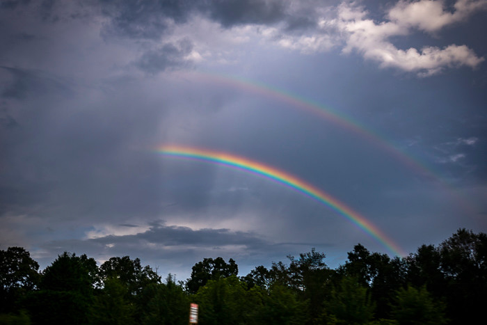 Double rainbow in Georgia