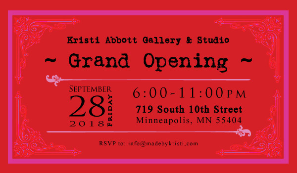 Event: KRISTI ABBOTT GALLERY GRAND OPENING – Minneapolis