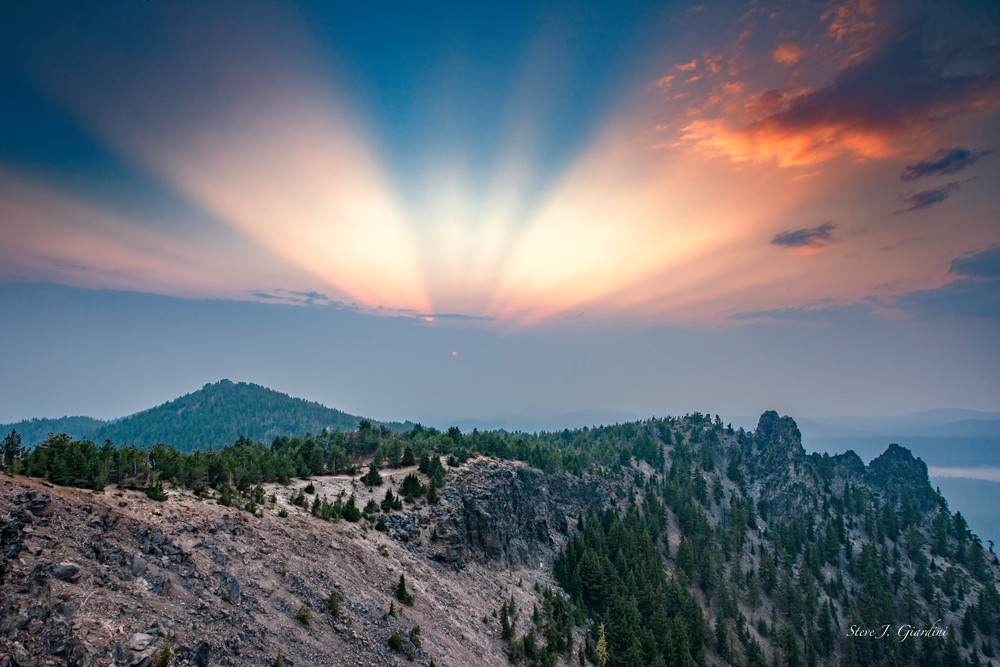 Paulina Peak Sunset Fan (1810184LNND8)