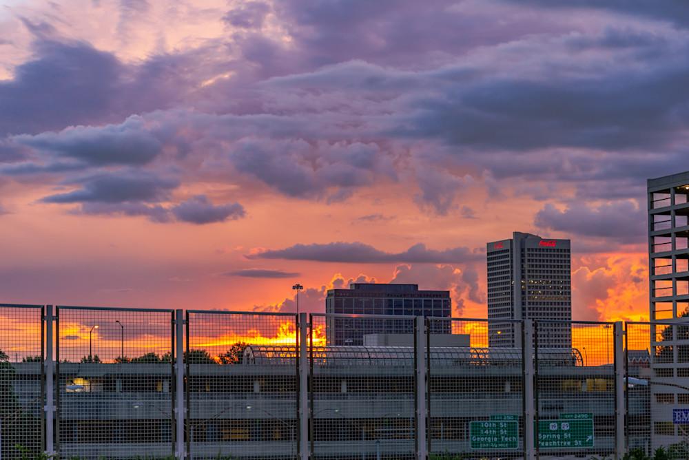 An Atlanta sunset