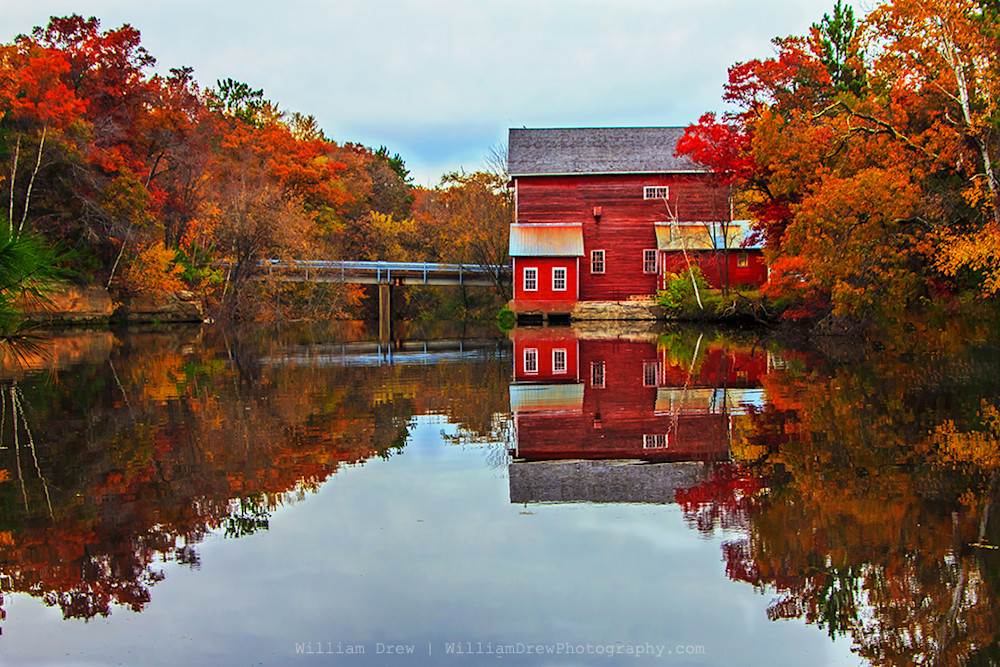 Dells Mill Reflection - Fall Color Photographs | William Drew Photography